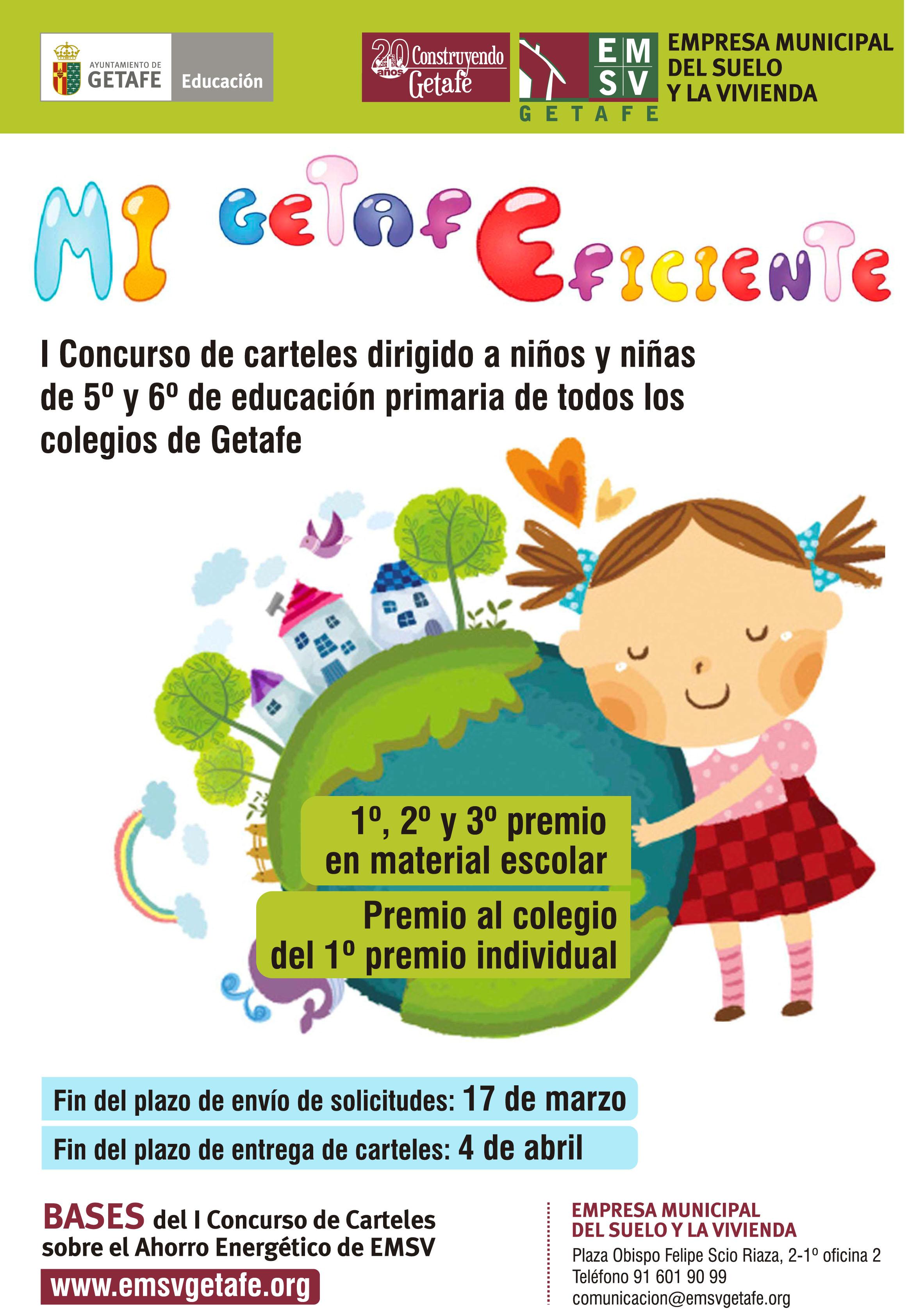 Concurso De Carteles Infantiles Mi Getafe Eficiente Emsv